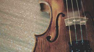 Превью обои скрипка, струны, деревянный