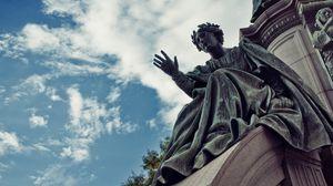 Превью обои скульптура, статуя, памятник, шотландия, эдинбург