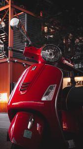 Превью обои скутер, руль, красный, фара
