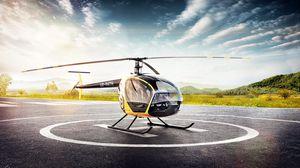 Превью обои sl-230, скаут, вертолет, взлет