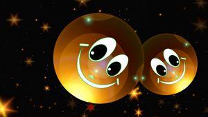 Превью обои смайлики, звезды, счастливый, улыбка