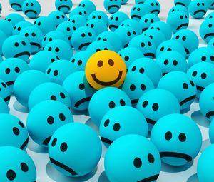 Превью обои смайлы, улыбки, радость, грусть