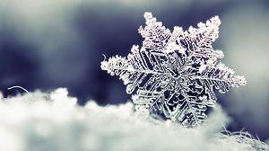 Превью обои снежинка, снег, форма, узор