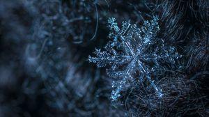 Превью обои снежинка, узор, структура, лед