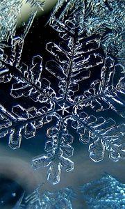 Превью обои снежинка, зима, макро, лед