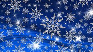 Превью обои снежинки, арт, рождество, новый год, зима