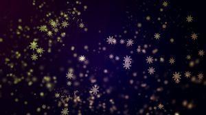Превью обои снежинки, фон, блеск, абстракция