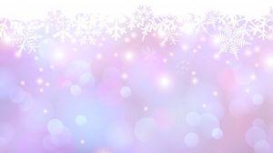 Превью обои снежинки, пятна, точки, свечение