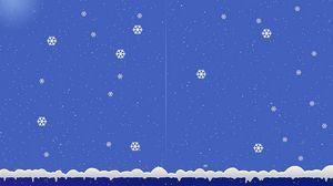 Превью обои снежинки, снег, зима