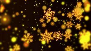 Превью обои снежинки, узоры, блики, боке
