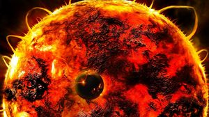 Превью обои солнце, звезда, вспышки, энергия, планета