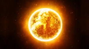 Превью обои солнце, звезды, космос, свет