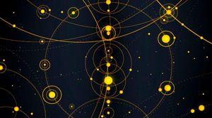 Превью обои солнечная система, круги, линии, пунктиры