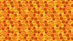 Превью обои соты, мед, паттерн, текстура, узоры