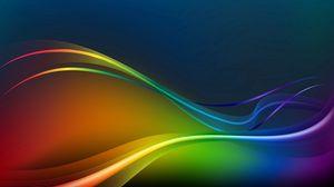 Превью обои спектр, лучи, линии