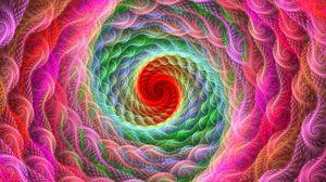 Превью обои спираль, яркий, разноцветный, закрученный, фрактал