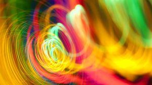 Превью обои спираль, разноцветный, яркий, линии