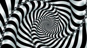 Превью обои спираль, вращение, погружение, двухцветный