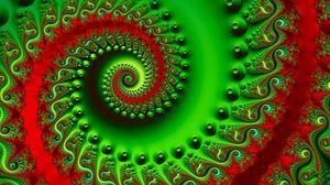Превью обои спираль, закрученный, разноцветный, яркий, фрактал, 3d