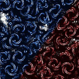 Превью обои спирали, круги, закрученный, синий, красный