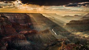 Превью обои сша, каньон, горы, вид сверху