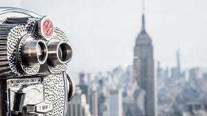 Превью обои сша, нью-йорк, манхэттен, рокфеллер центр, бинокль