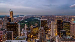 Превью обои сша, штат нью-йорк, нью-йорк, рокфеллеровский центр, usa, state new york, new york, rockefeller center, парк