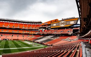 Превью обои стадион, трибуны, сидения, поле, спорт
