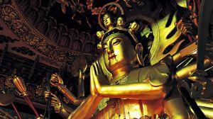 Превью обои статуя, китай, фигурка