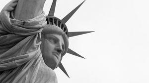 Превью обои статуя свободы, каменный, достопримечательность