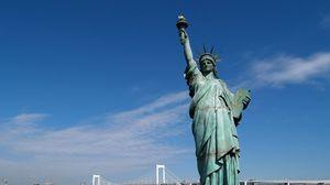 Превью обои статуя свободы, сша, нью-йорк