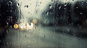 Превью обои стекло, капли, дождь, влага