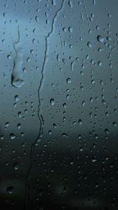 Превью обои стекло, капли, размытость, влага, поверхность