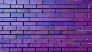 Превью обои стена, кирпич, кирпичный, фиолетовый, текстура
