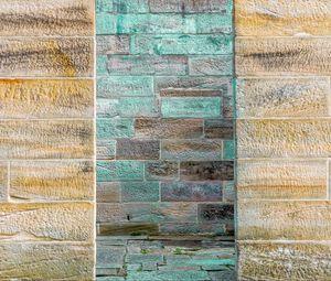 Превью обои стена, кирпичи, поверхность, синий, текстура