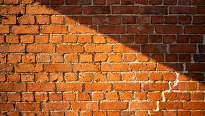 Превью обои стена, кирпичи, шершавый, текстура, коричневый