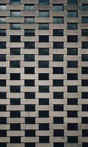 Превью обои стена, кирпичи, текстура, серый
