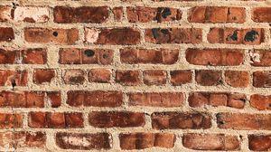 Превью обои стена, кирпичный, поверхность, текстура