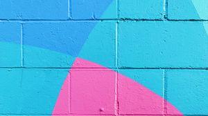 Превью обои стена, краска, поверхность, синий, розовый