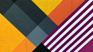 Превью обои стена, мурал, абстракция, геометрия, разноцветный