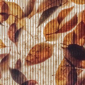 Превью обои стена, полосы, листья, осень, текстура
