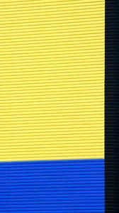 Превью обои стена, полосы, минимализм, здание, разноцветный