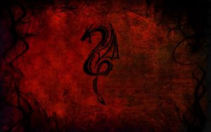 Превью обои стиль, абстракция, дракон