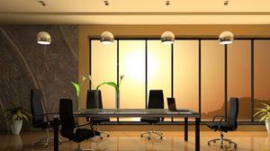 Превью обои стол, кабинет, кресла, стекло, окно