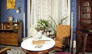 Превью обои стол, старинный, кабинет