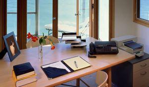 Превью обои стол, стул, мебель, документы, кабинет