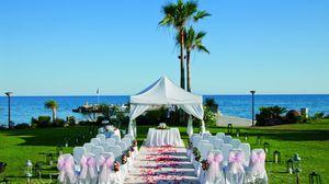 Превью обои столы, свадьба, украшение, природа