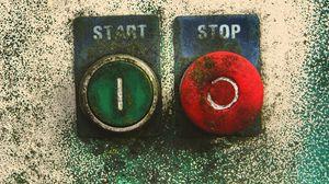 Превью обои стоп, запуск, указатели, кнопки, зеленый, красный