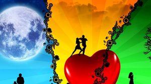 Превью обои страсть, мир, танец, сердце, любовь