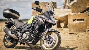 Превью обои suzuki, мотоцикл, байк, черный, мото